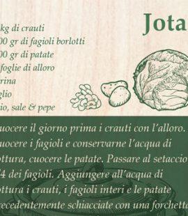 Cartoline con ricette tradizionali triestine